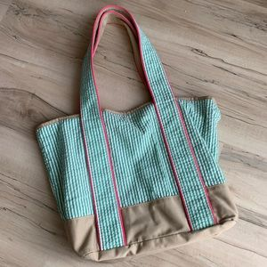 Bath & Body Works Fabric Striped Bag